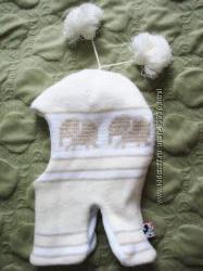 Шлем зимний на 4-5 лет слоники