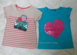 Фирменные футболки на девочку 2-3 года