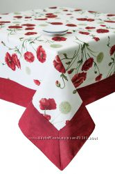 Скатерти, фартуки, вафельные полотенца Маки от ТМ Прованс
