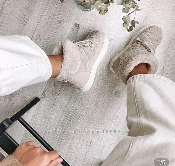 Замшевые ботинки боты  угги