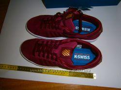 Классные кроссовки  K-SWISS , нат. замш, на ножку 27-28 см, акция