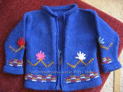 кофта, свитер на молнии из шерсти ламы