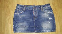Юбка джинс Dsquared2, оригинал, 44р, состояние новой. Ваша цена