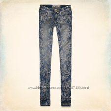 Акция Hollister джинсы с рисунком оригинал