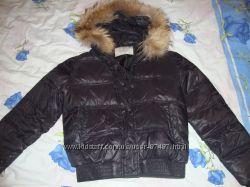 Шикарная женская куртка с натуральной опушкой. Р s-m.