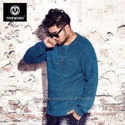 Шерстяной свитер объемной вязки